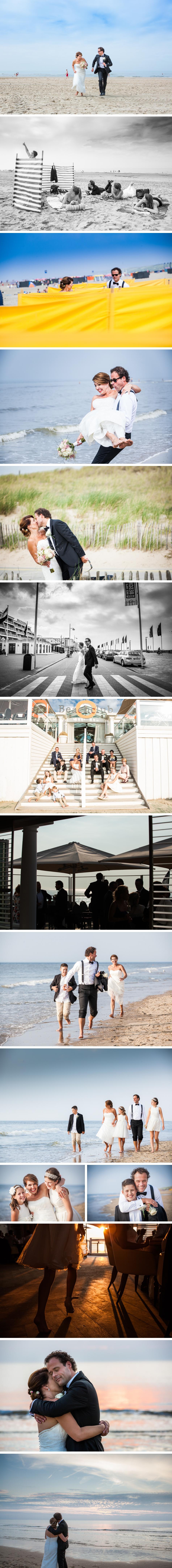bruidsreportage Beachclub O Noordwijk aan Zee