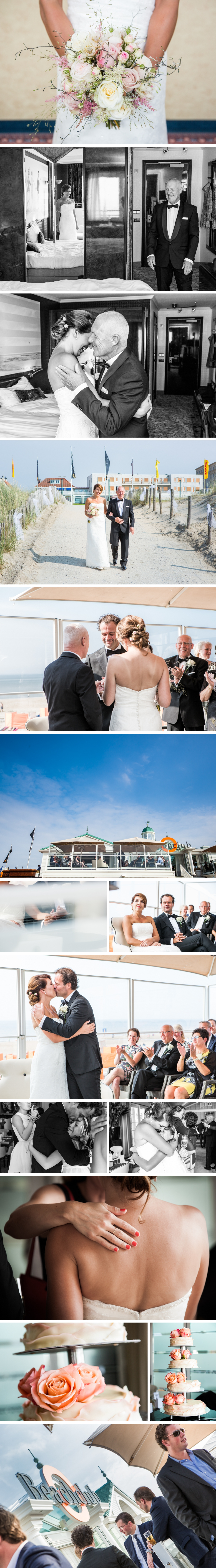 trouwreportage beachclub O Noordwijk