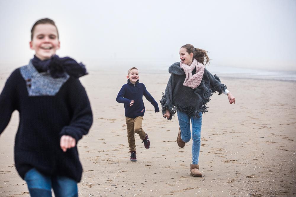fotoshoot strand Katwijk met mist-1