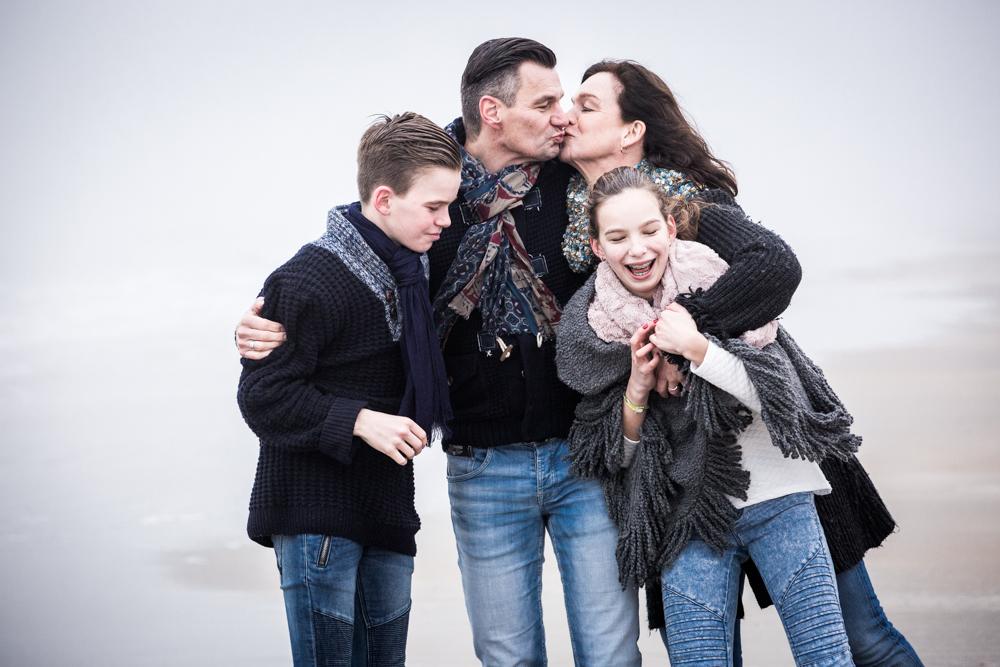 fotoshoot strand Katwijk met mist-7