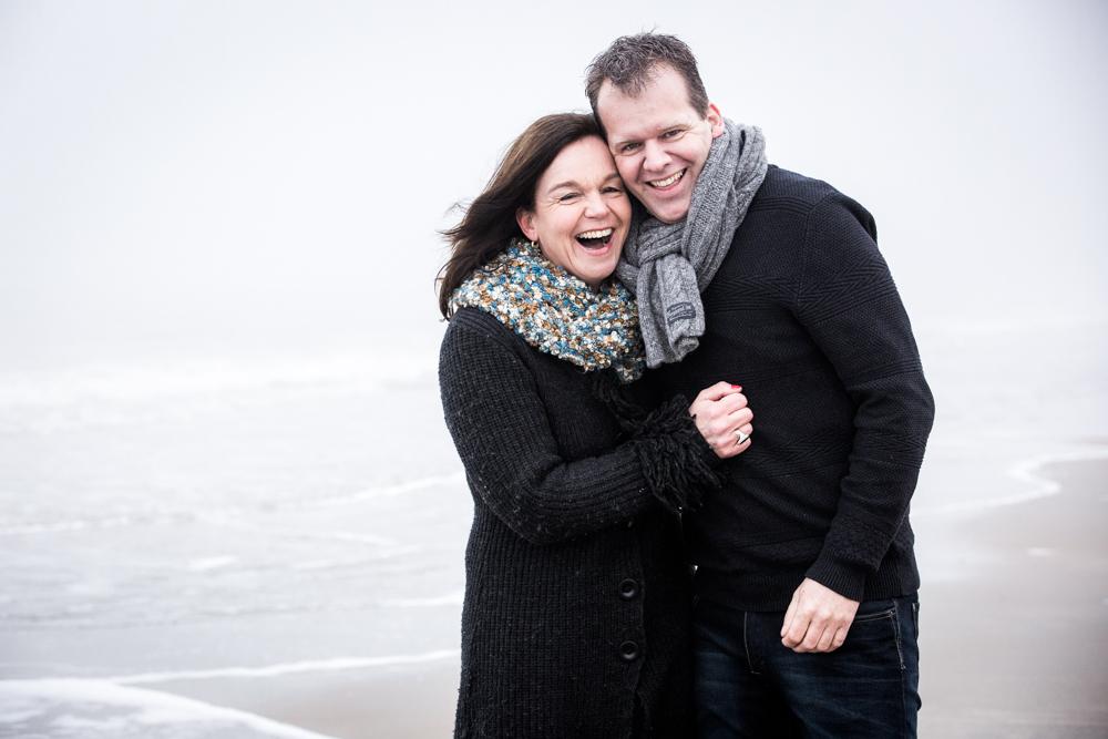 fotoshoot strand Katwijk met mist-8