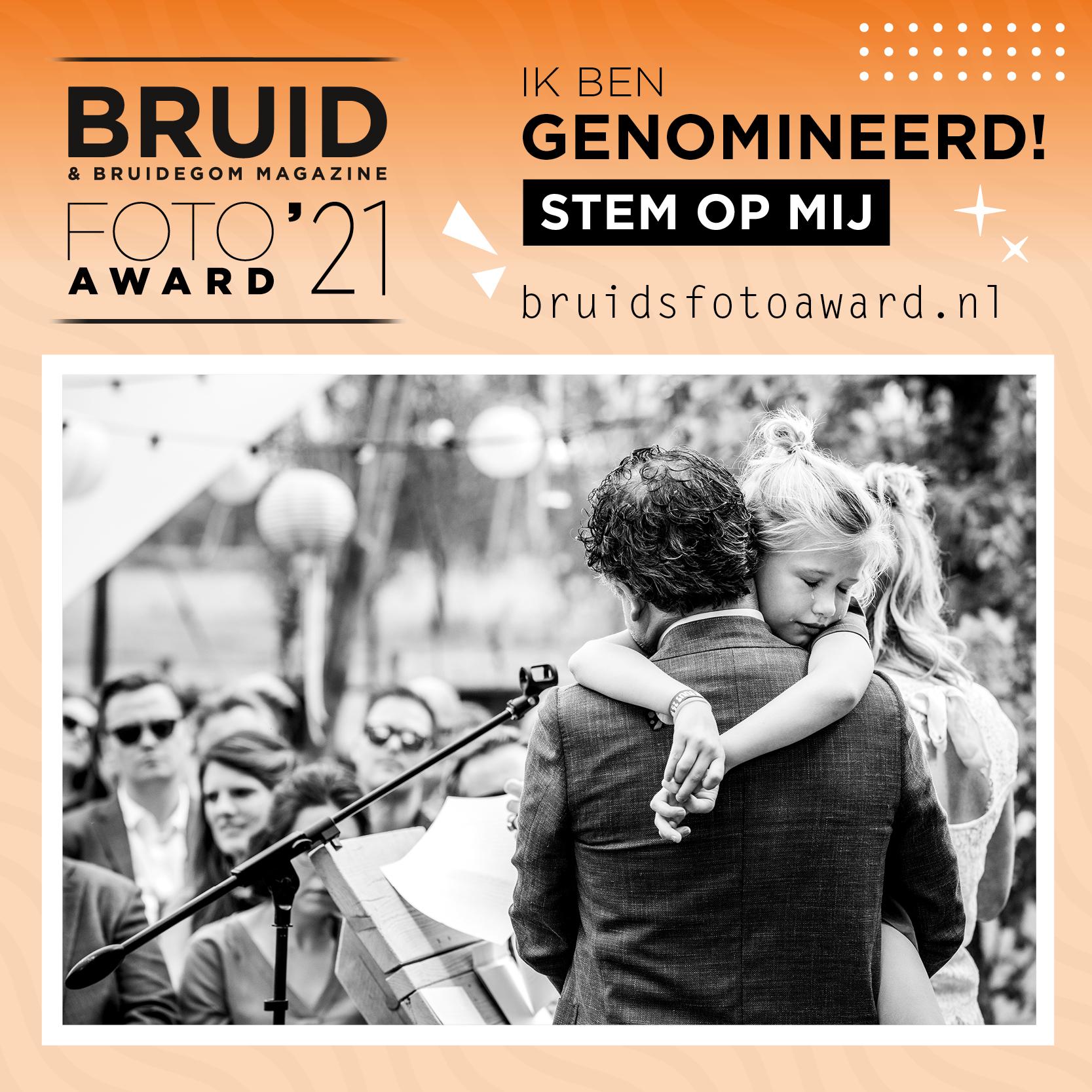 Lotje van der Bie is genomineerd voor de Bruidsfotoaward 2021